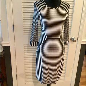 NWT Diane vonFurstenberg Black & White Dress